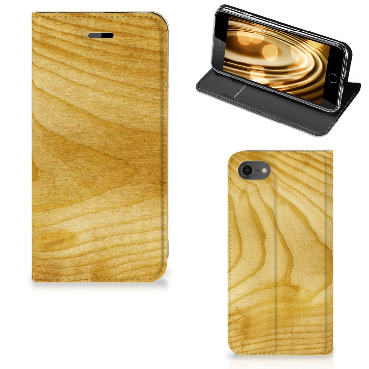 Apple iPhone 7 | 8 Uniek Standcase Hoesje Licht Hout