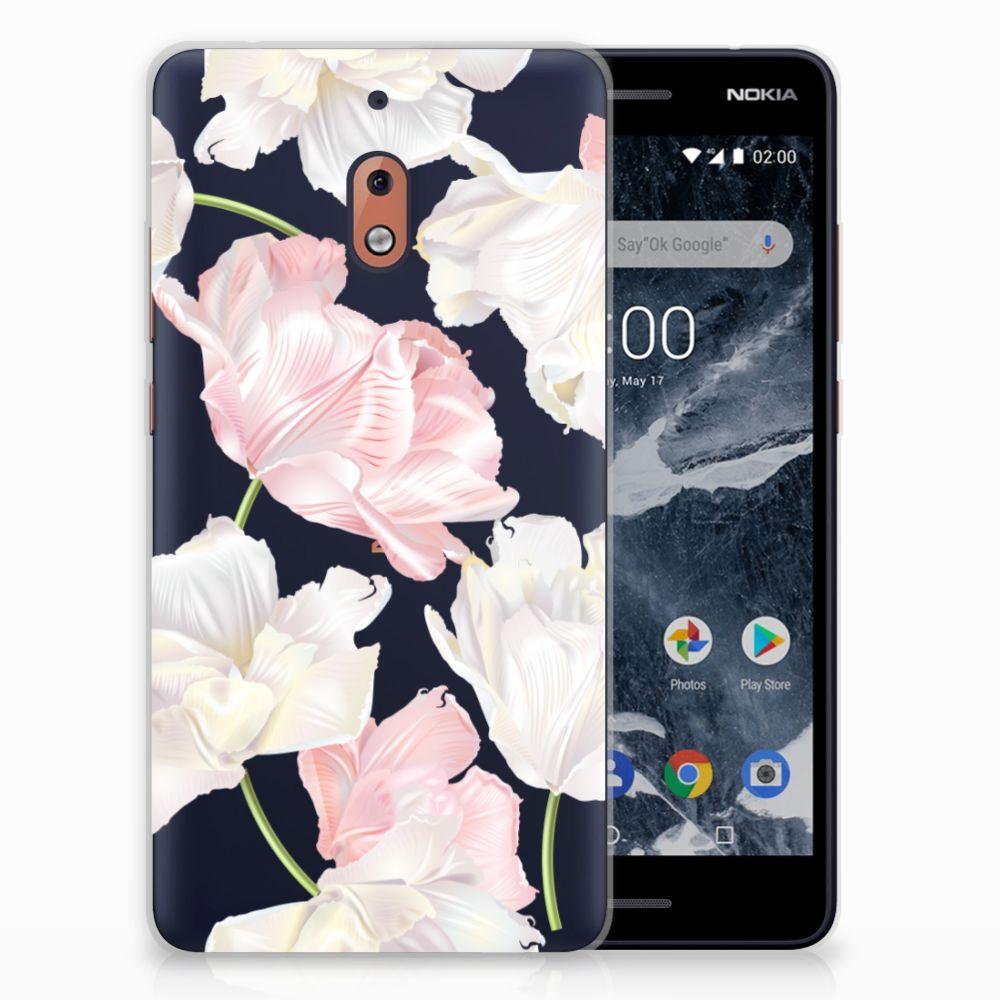 Nokia 2.1 (2018) TPU Hoesje Design Lovely Flowers