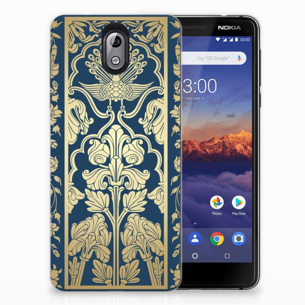 Nokia 3.1 (2018) TPU Case Golden Flowers