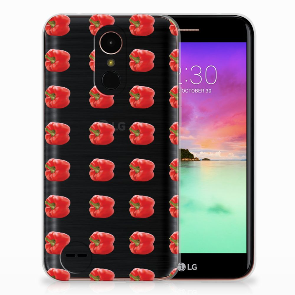 LG K10 2017 Siliconen Case Paprika Red