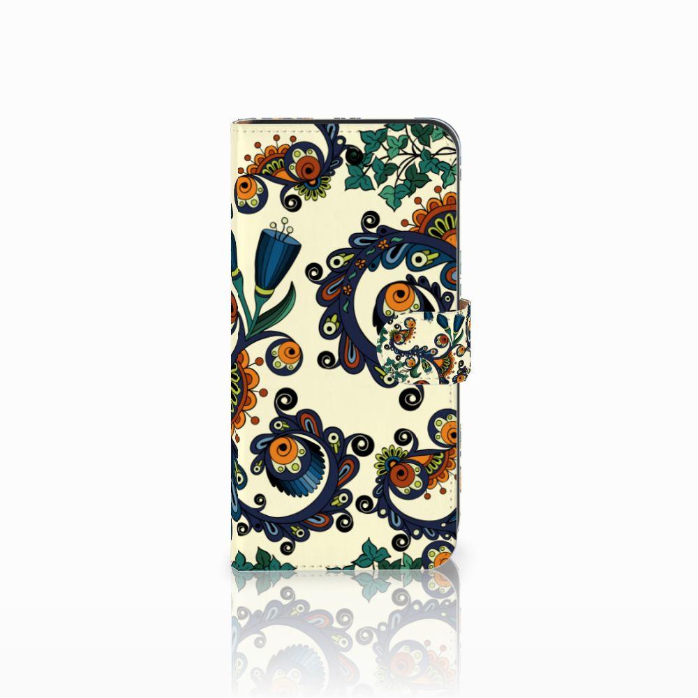 Wallet Case Samsung Galaxy E7 Barok Flower