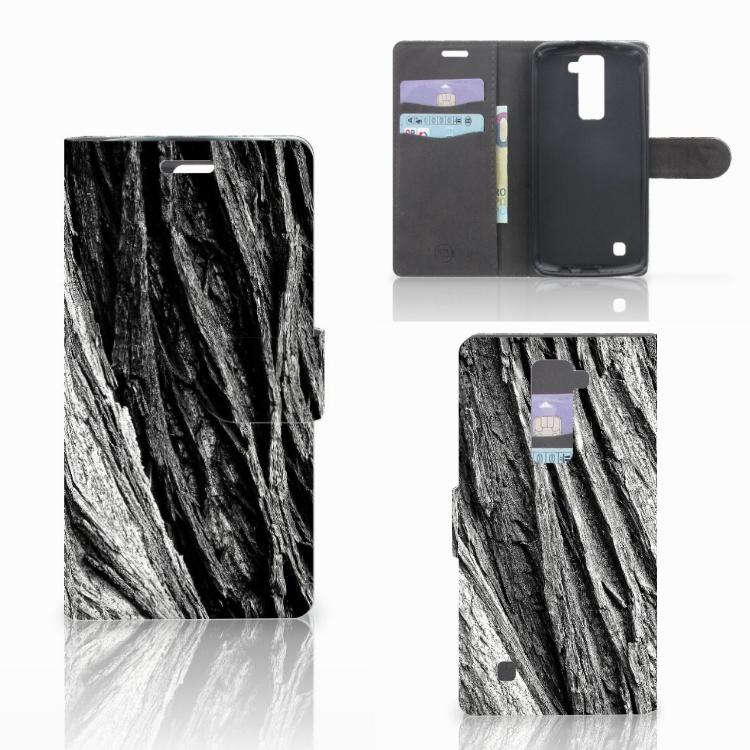 Book Style Case LG K10 2015 Boomschors Grijs