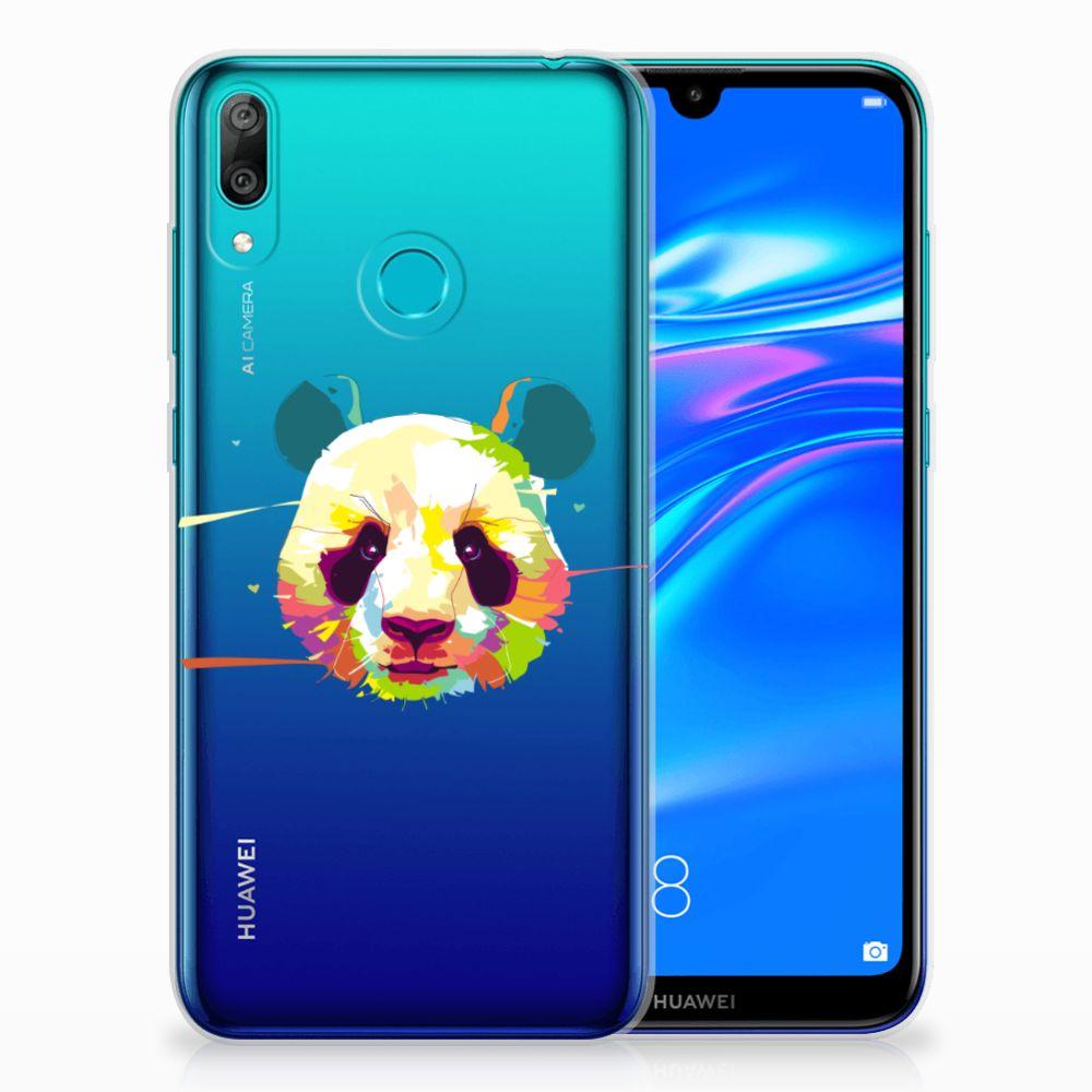 Huawei Y7 2019 Telefoonhoesje met Naam Panda Color