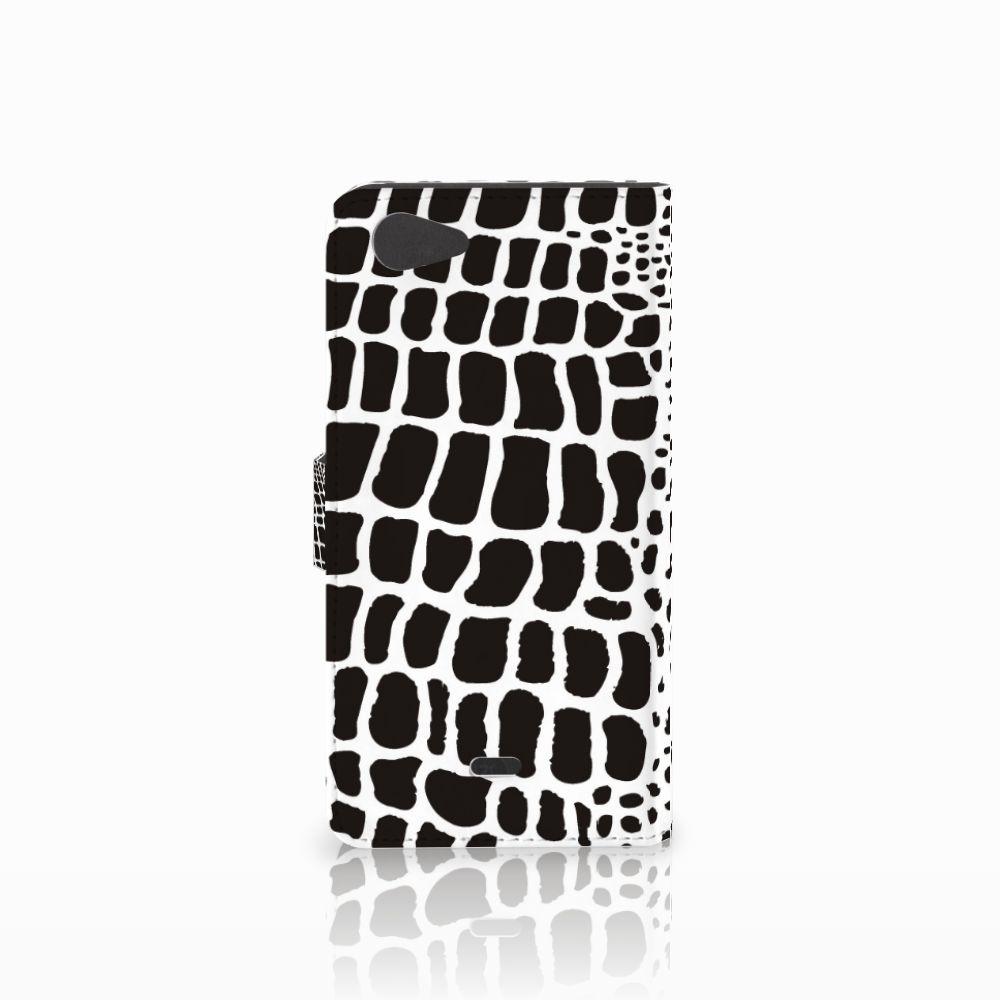 Wiko Pulp Fab 4G Telefoonhoesje met Pasjes Slangenprint