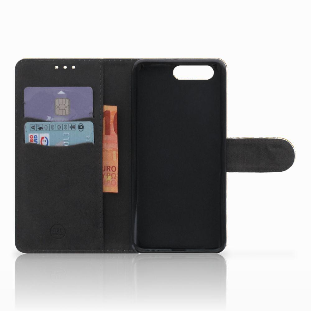 Wallet Case Honor 9 Barok Goud