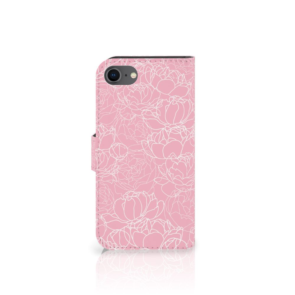 Apple iPhone 7 | 8 Hoesje White Flowers