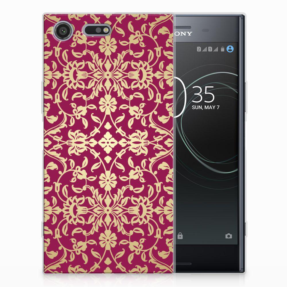 Siliconen Hoesje Sony Xperia XZ Premium Barok Pink