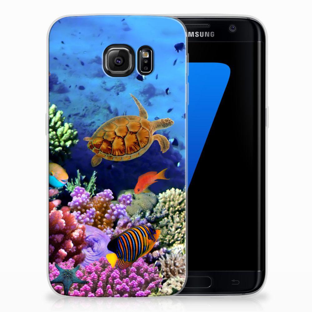 Samsung Galaxy S7 Edge TPU Hoesje Design Vissen