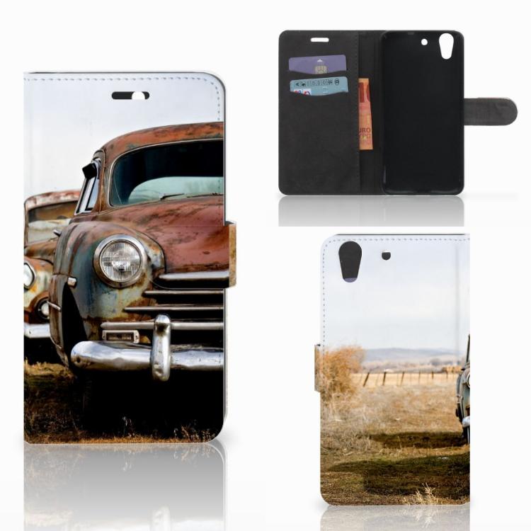 Huawei Y6 II | Honor 5A Telefoonhoesje met foto Vintage Auto