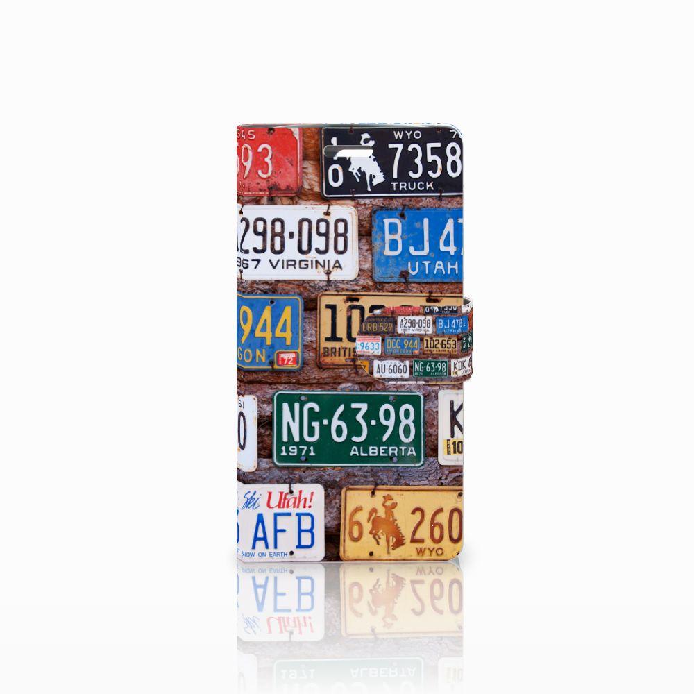 LG K10 2015 Uniek Boekhoesje Kentekenplaten