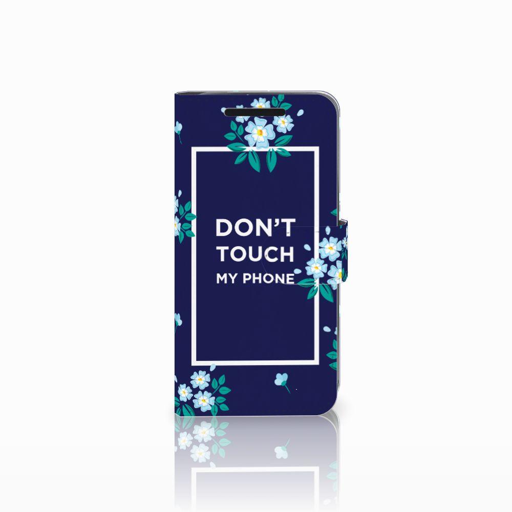 HTC One M9 Boekhoesje Flowers Blue DTMP