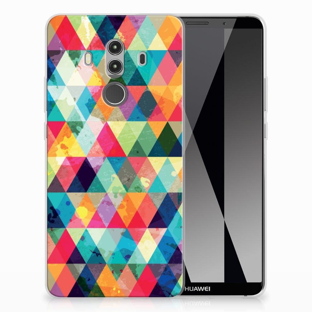 Huawei Mate 10 Pro Uniek TPU Hoesje Geruit
