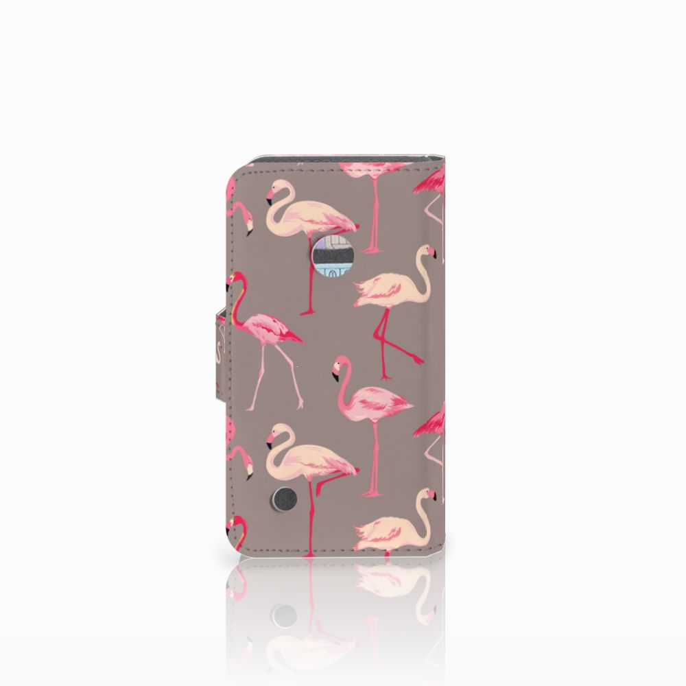 Nokia Lumia 530 Telefoonhoesje met Pasjes Flamingo