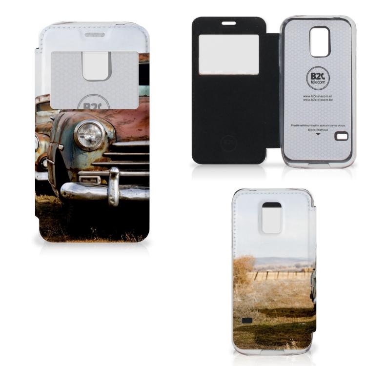 Samsung Galaxy S5 Mini Telefoonhoesje met foto Vintage Auto