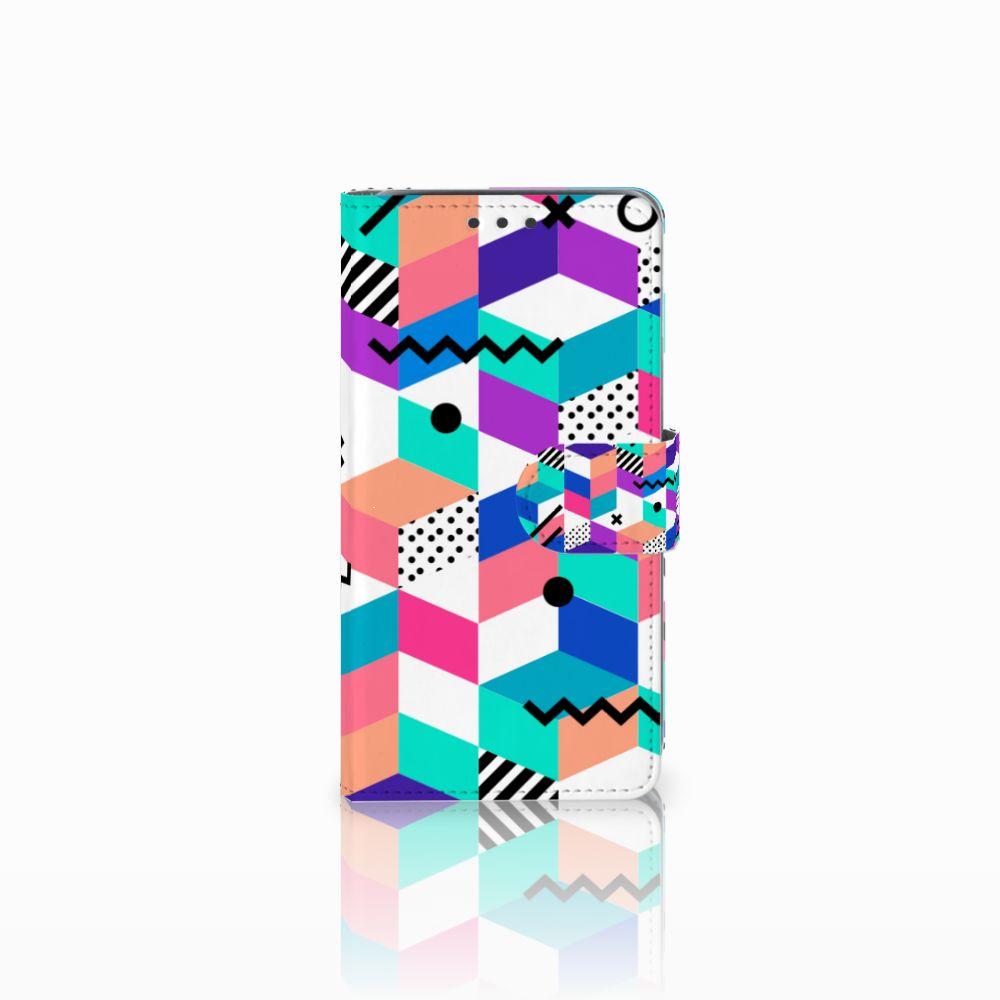 Samsung Galaxy J5 (2015) Boekhoesje Design Blocks Colorful