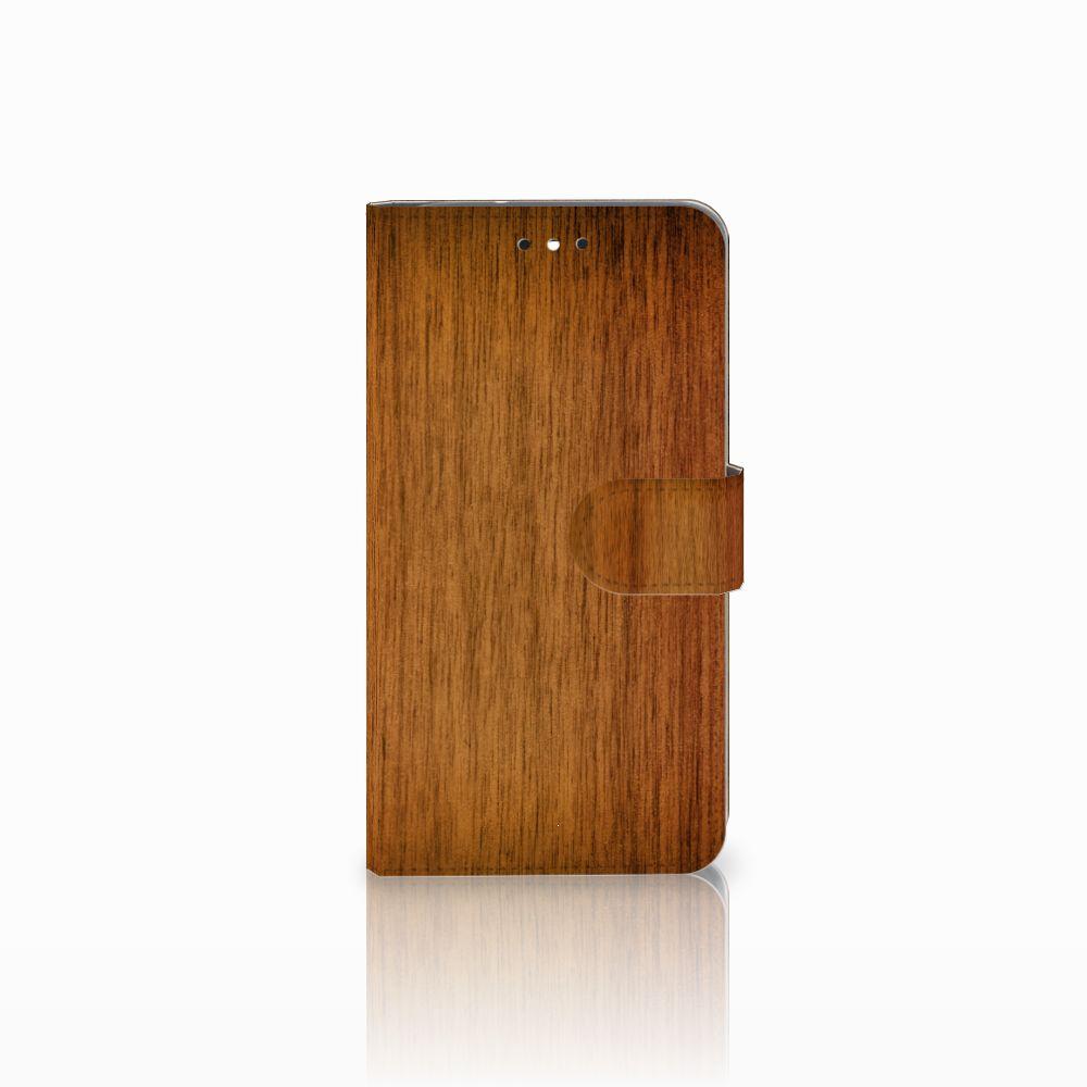 Motorola Moto G4 | G4 Plus Uniek Boekhoesje Donker Hout
