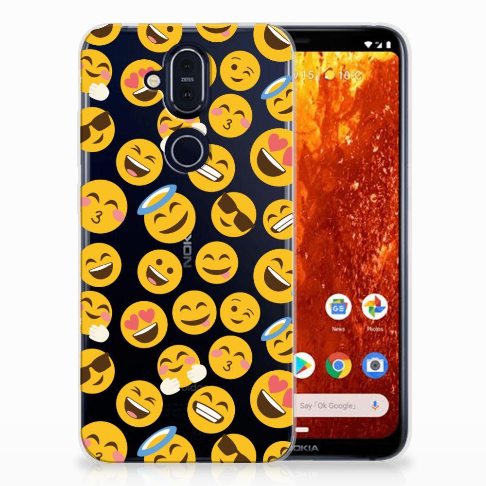 Nokia 8.1 TPU Hoesje Design Emoji