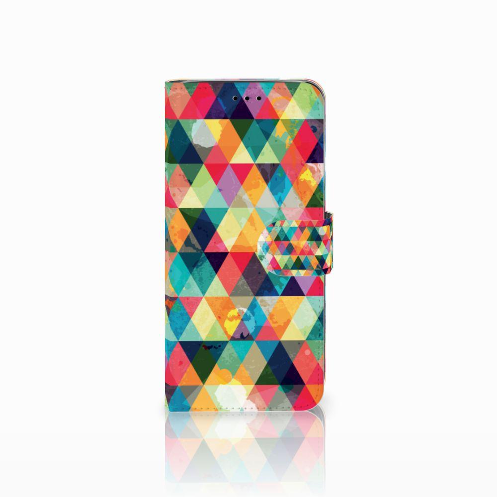 Samsung Galaxy A6 2018 Uniek Boekhoesje Geruit