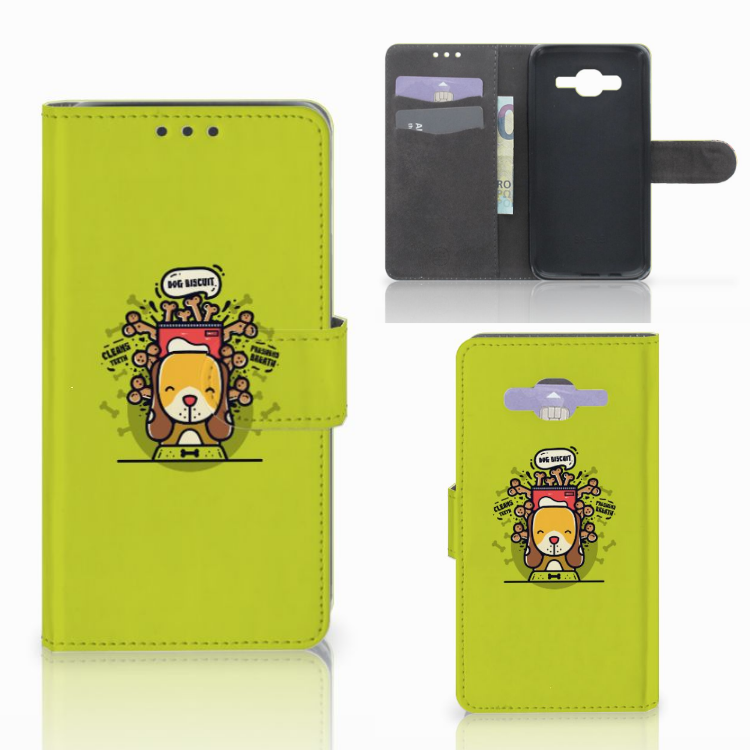Samsung Galaxy J5 (2015) Leuk Hoesje Doggy Biscuit