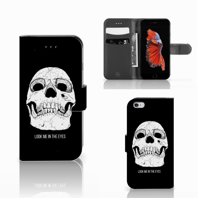 Telefoonhoesje met Naam Apple iPhone 6 | 6s Skull Eyes