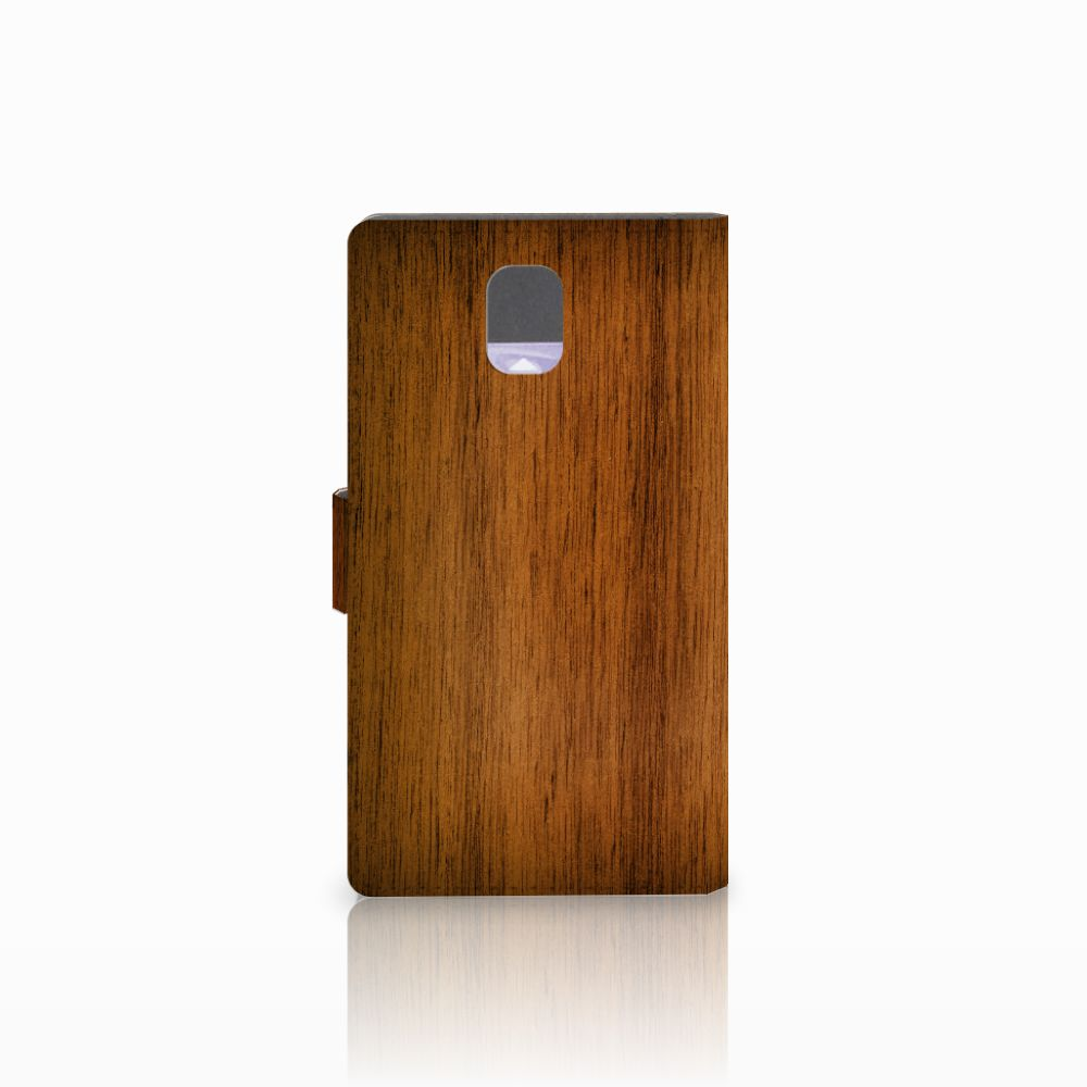 Samsung Galaxy Note 3 Book Style Case Donker Hout