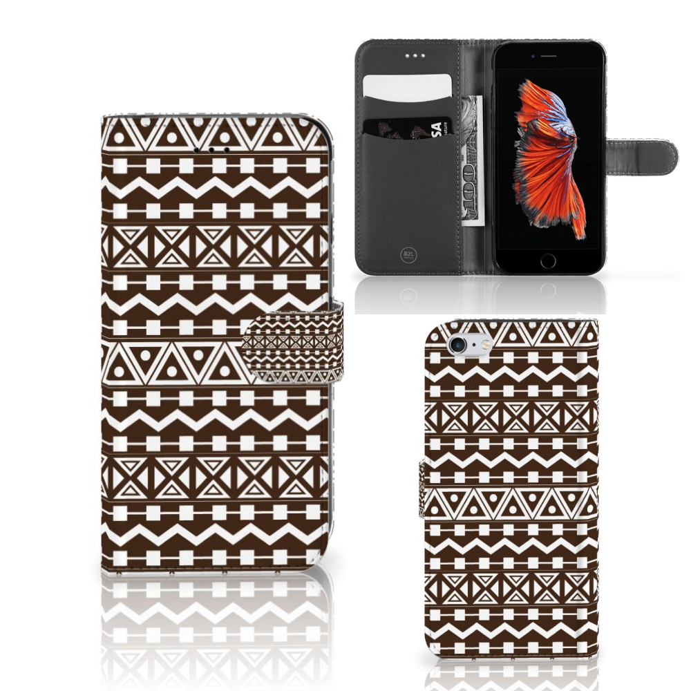 Apple iPhone 6 Plus | 6s Plus Telefoon Hoesje Aztec Brown