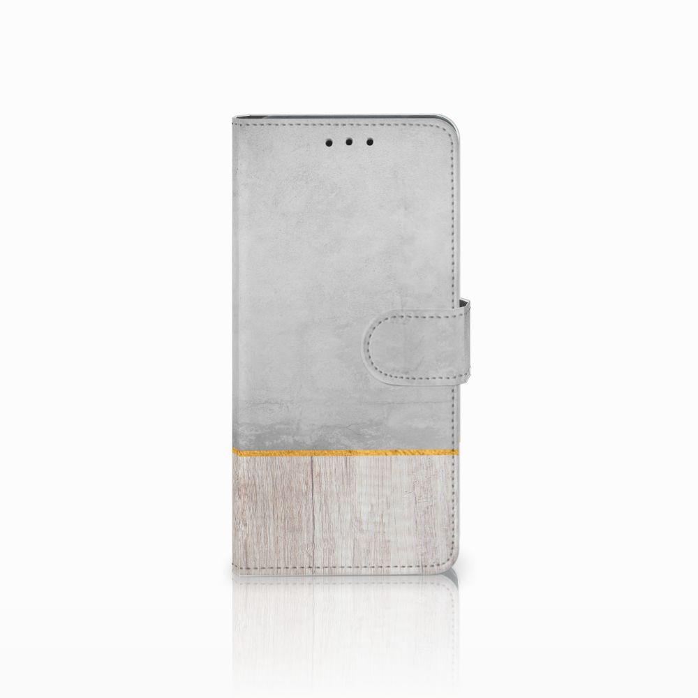 Huawei Mate 20 Pro Uniek Boekhoesje Wood Concrete