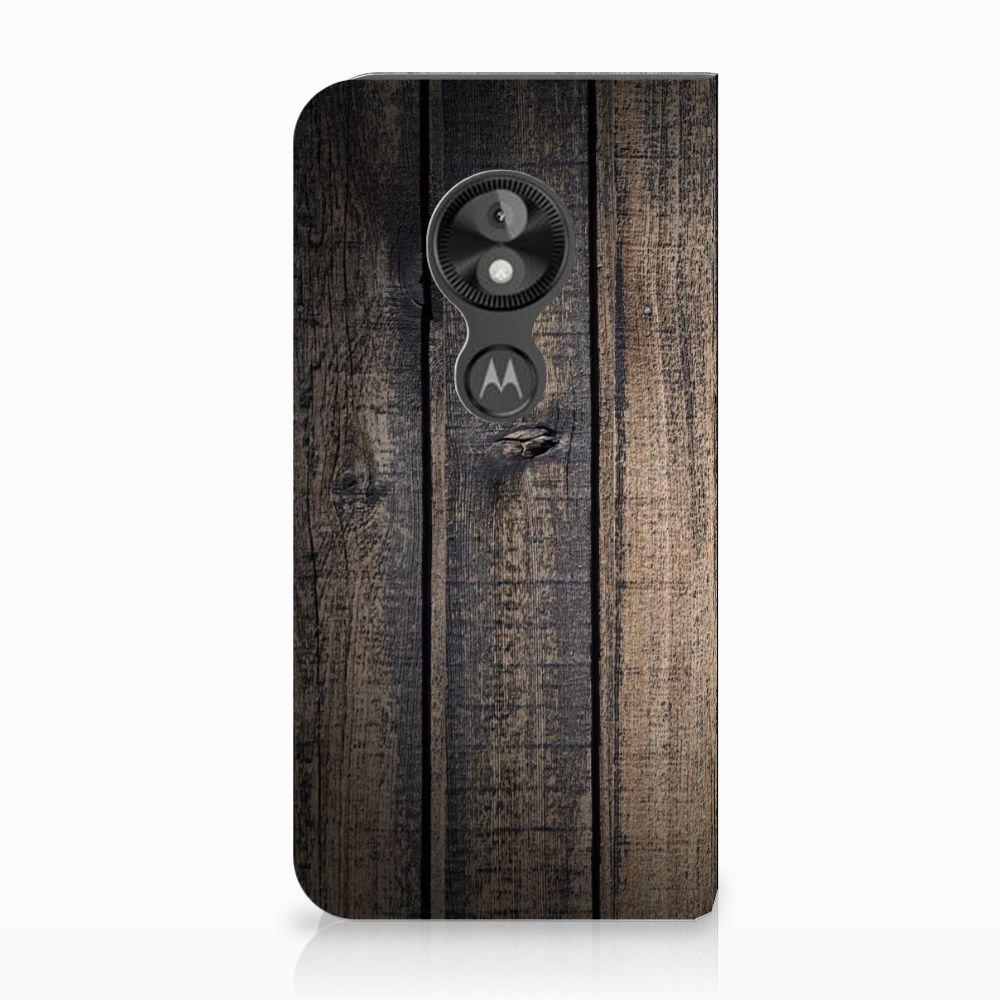 Motorola Moto E5 Play Standcase Hoesje Design Steigerhout