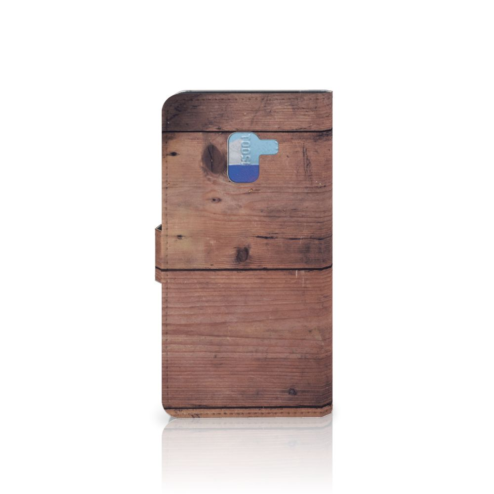 Samsung Galaxy A8 Plus (2018) Book Style Case Old Wood