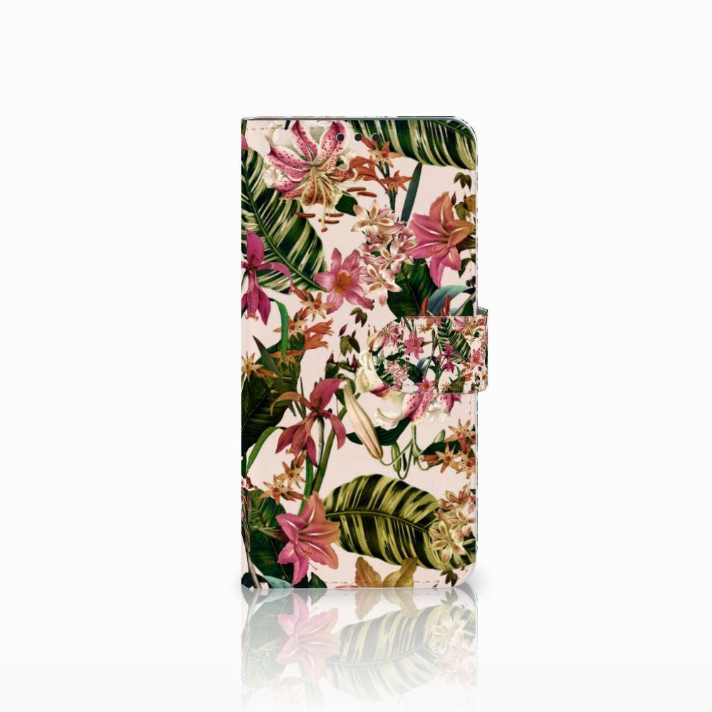 Huawei P Smart Plus Uniek Boekhoesje Flowers