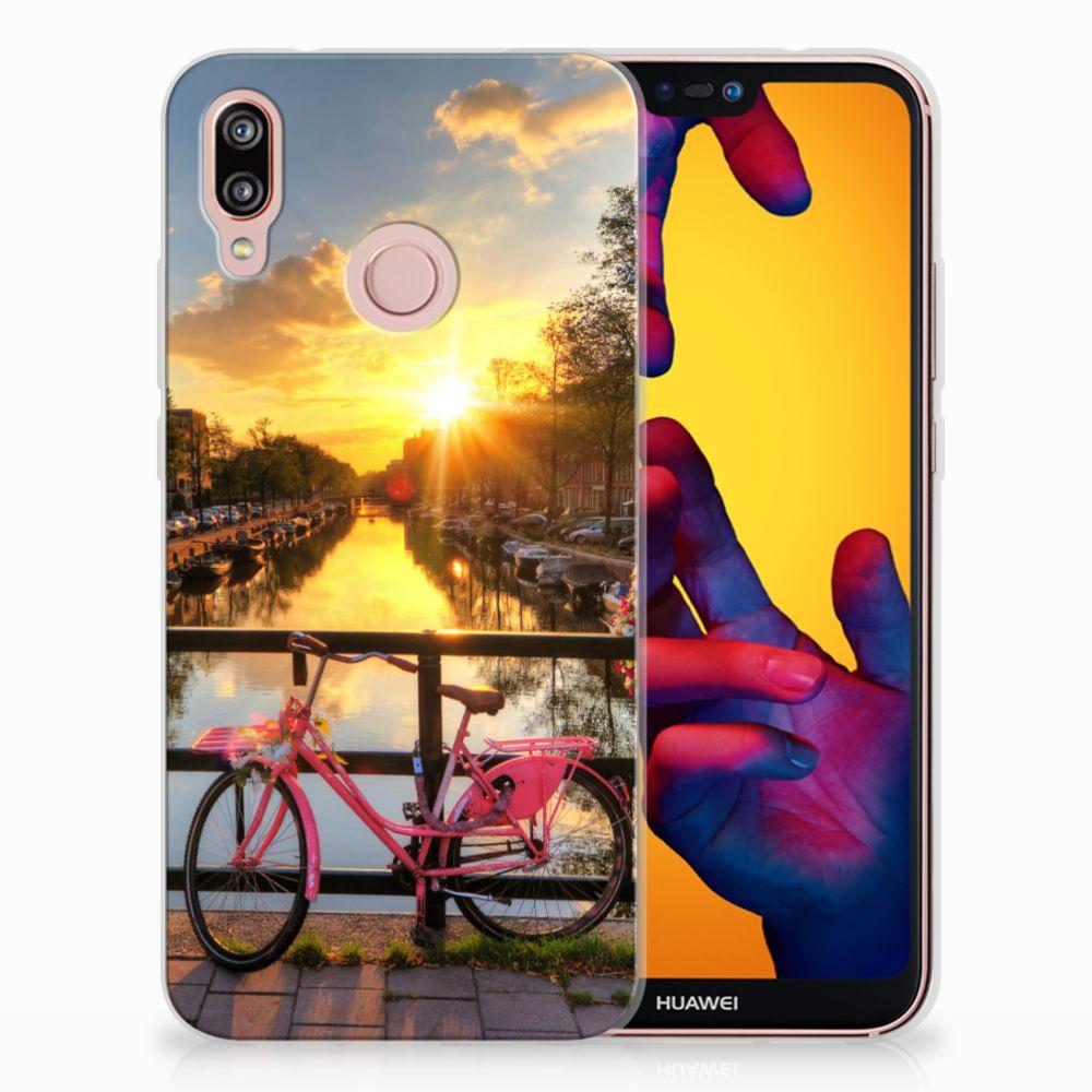 Huawei P20 Lite Uniek TPU Hoesje Amsterdamse Grachten