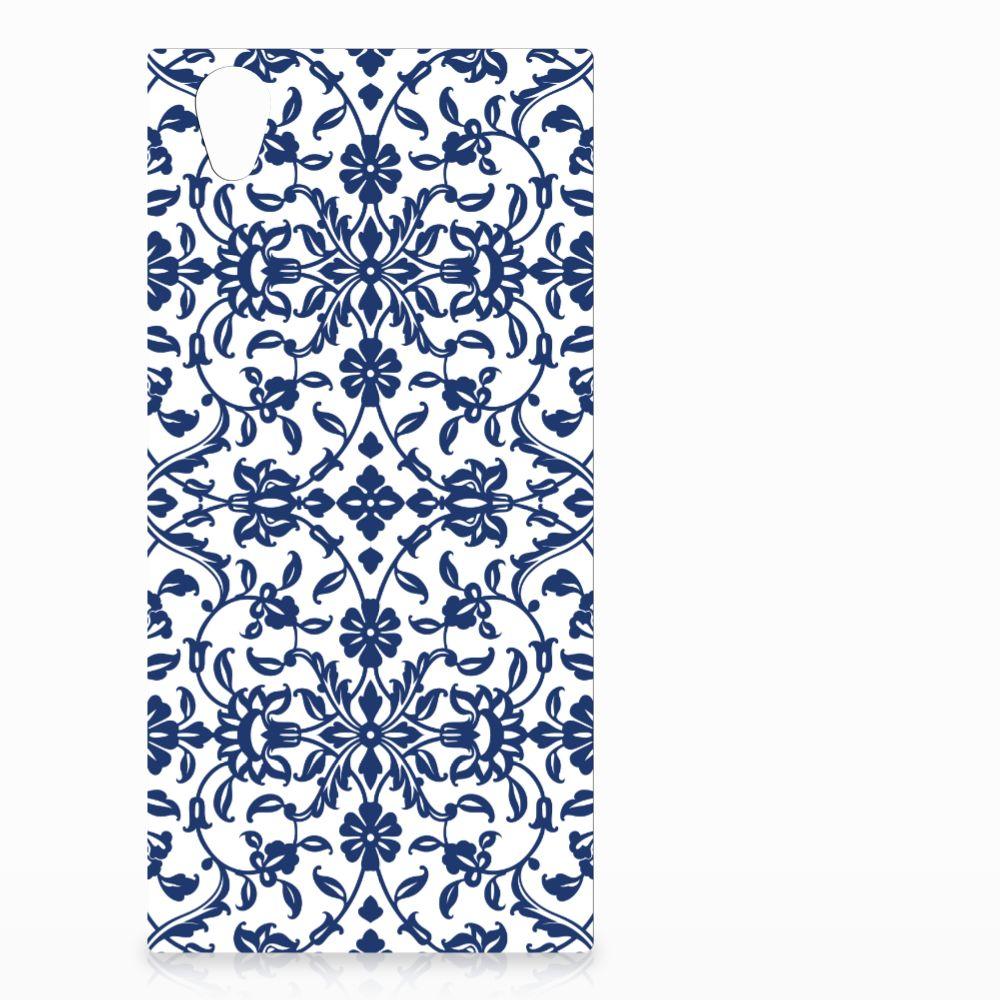 Sony Xperia L1 Uniek TPU Hoesje Flower Blue
