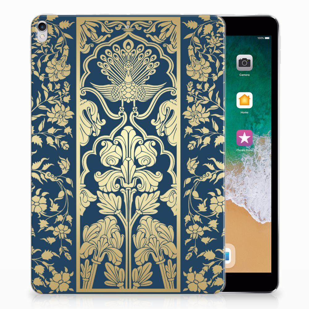 Apple iPad Pro 10.5 Siliconen Hoesje Golden Flowers