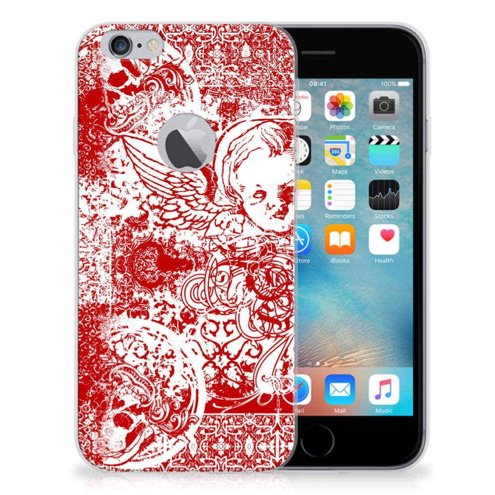 Silicone Back Case Apple iPhone 6 Plus | 6s Plus Angel Skull Rood