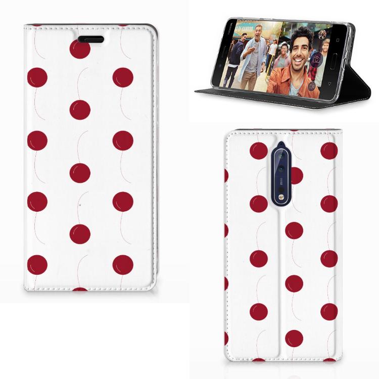 Nokia 8 Flip Style Cover Cherries