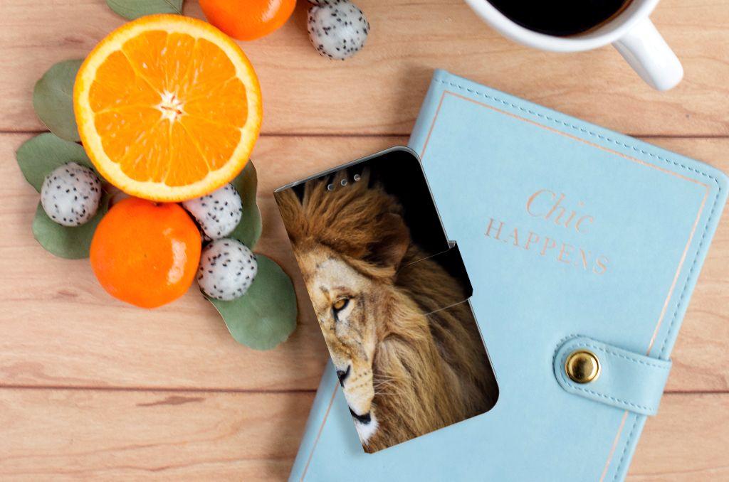 Huawei Y5 Y560 Telefoonhoesje met Pasjes Leeuw