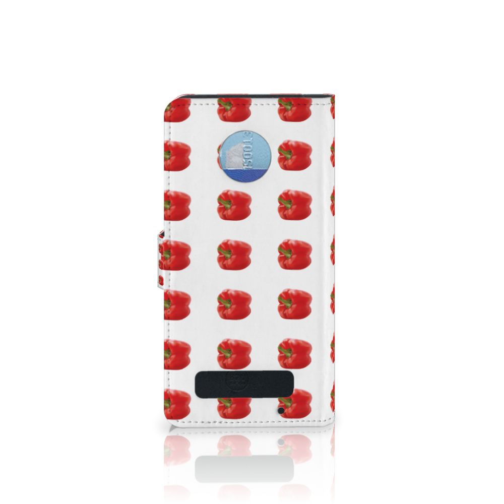 Motorola Moto Z Play Book Cover Paprika Red