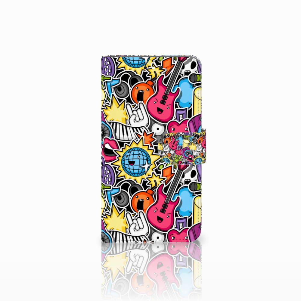 Motorola Moto G4 | G4 Plus Uniek Boekhoesje Punk Rock