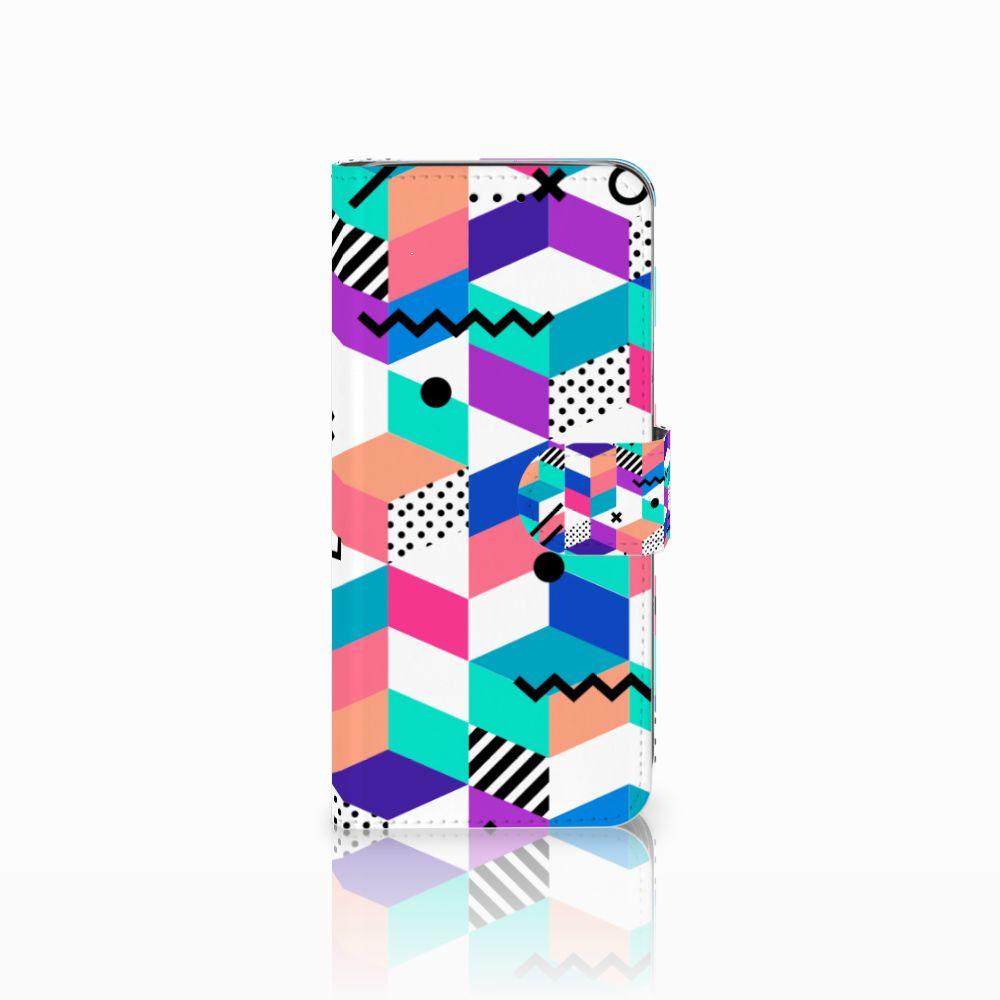 Samsung Galaxy A6 2018 Bookcase Blokken Kleurrijk