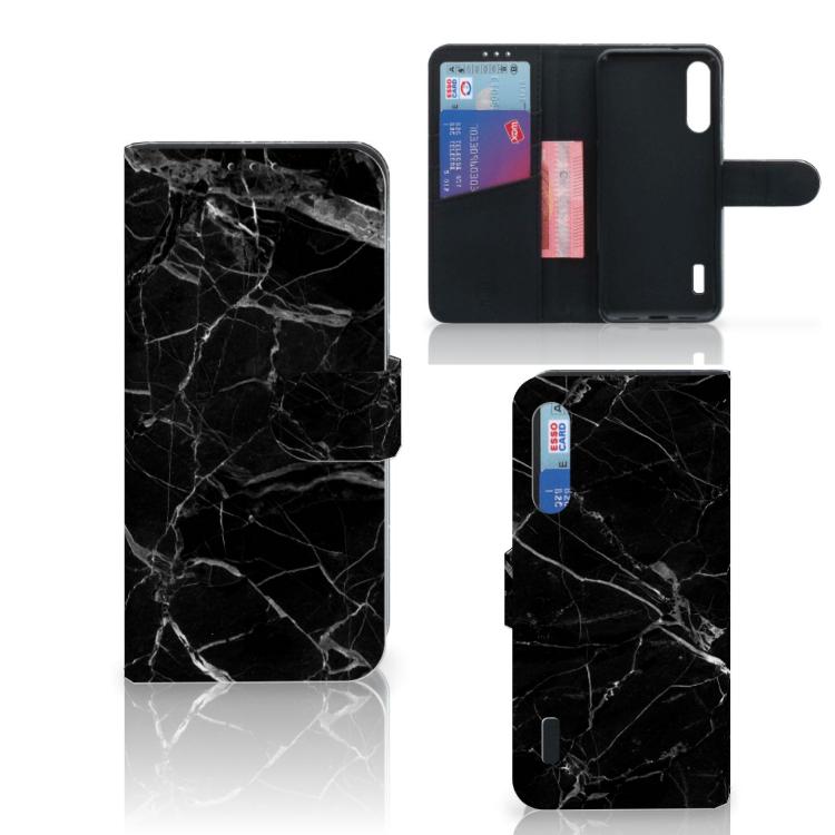 Xiaomi Mi A3 Bookcase Marmer Zwart - Origineel Cadeau Vader