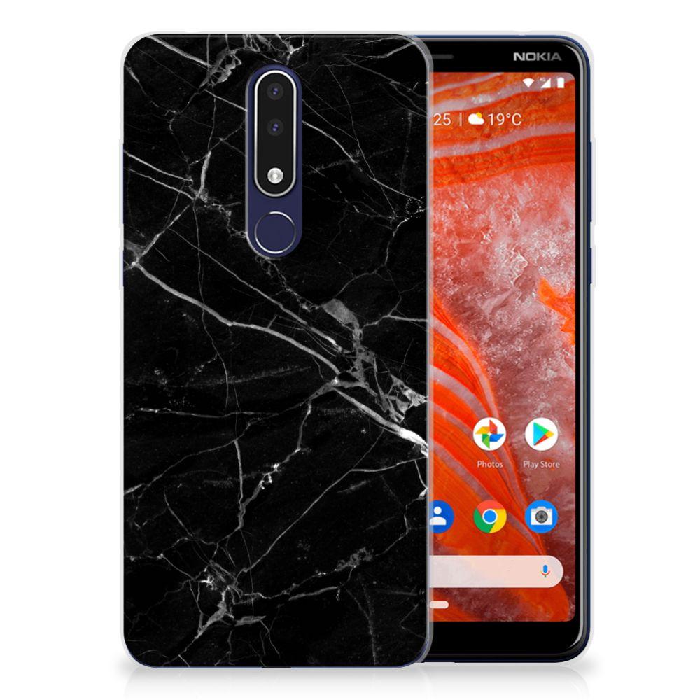 Nokia 3.1 Plus TPU Hoesje Marmer Zwart