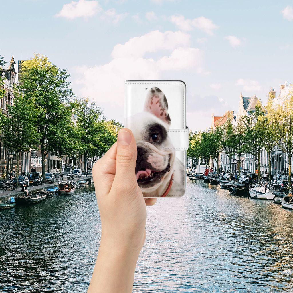 Motorola Moto G 3e Generatie Telefoonhoesje met Pasjes Franse Bulldog