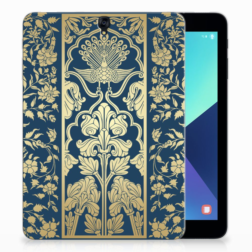 Samsung Galaxy Tab S3 9.7 Siliconen Hoesje Golden Flowers