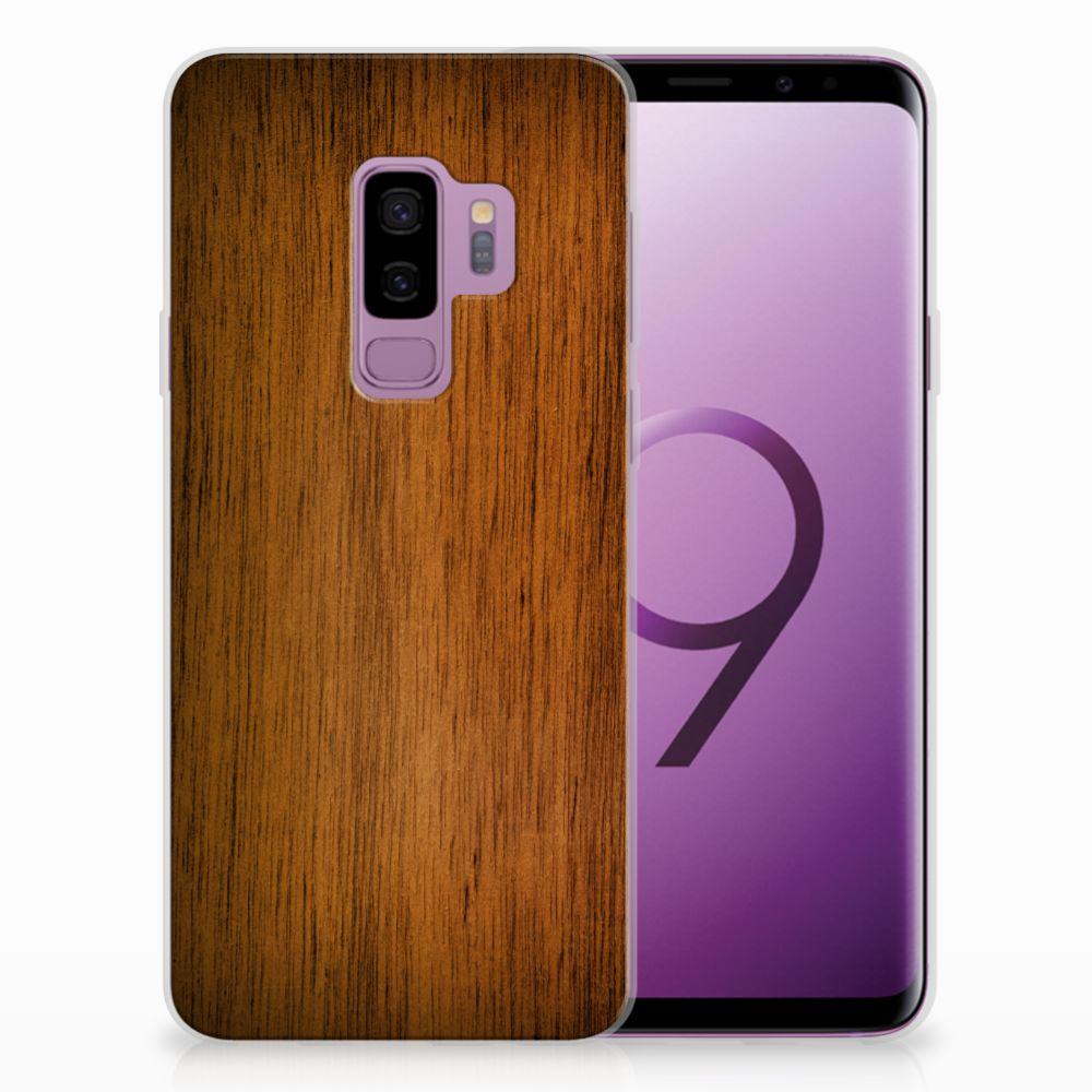 Samsung Galaxy S9 Plus Uniek TPU Hoesje Donker Hout