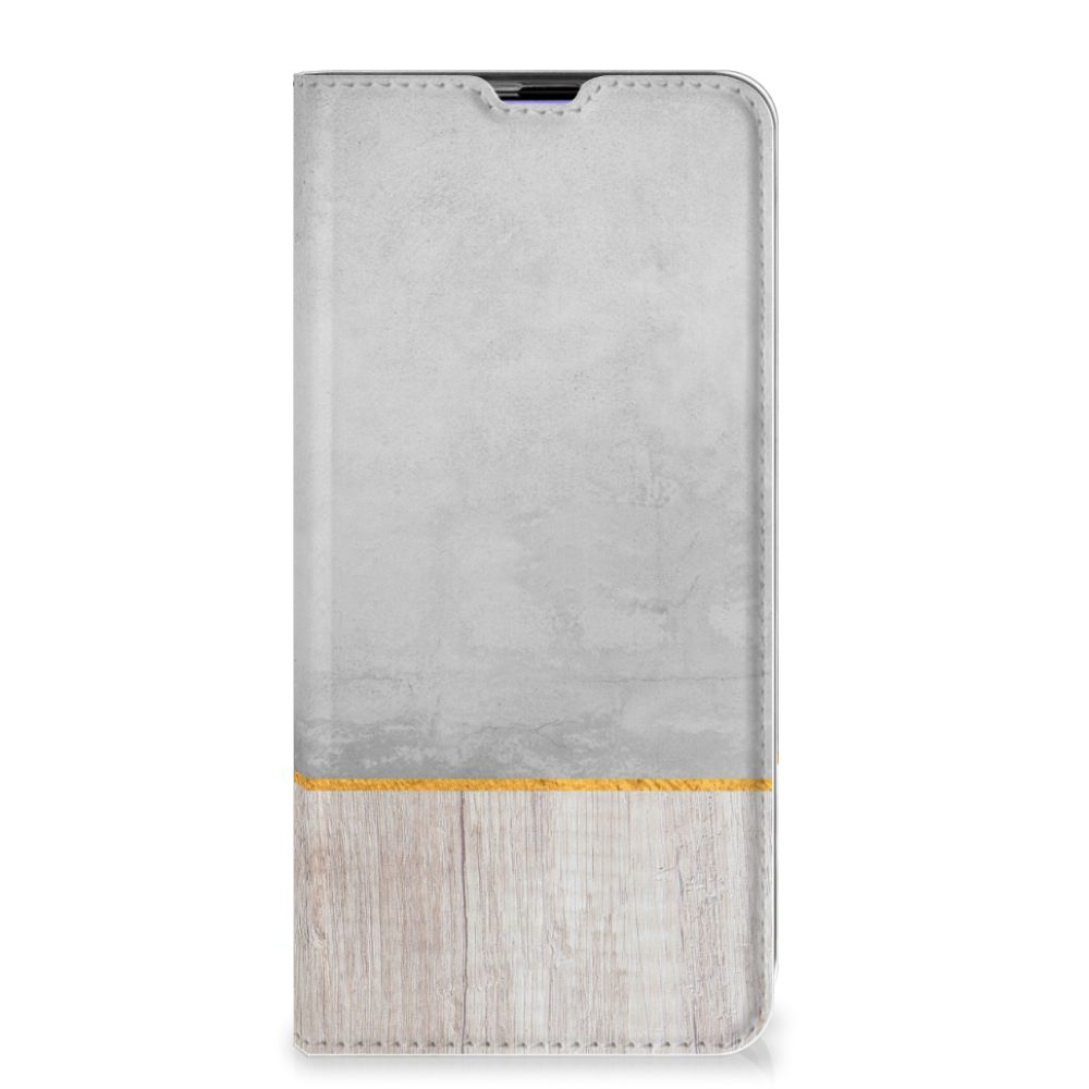 Samsung Galaxy A51 Book Wallet Case Wood Concrete