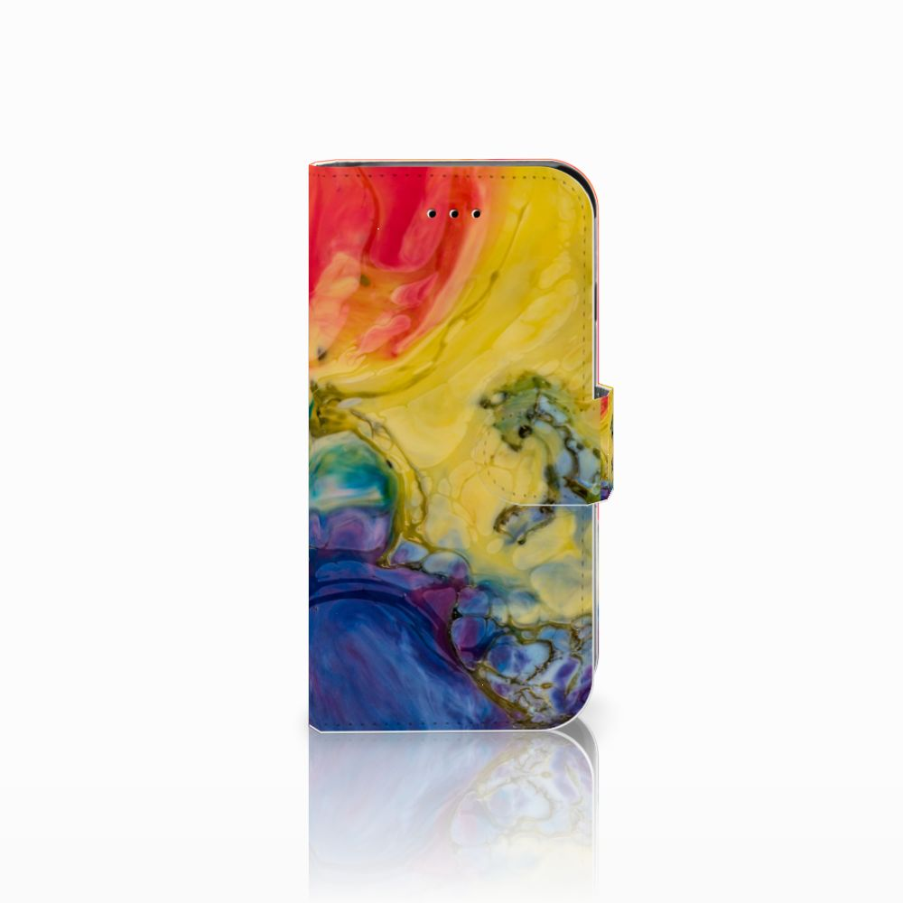 Apple iPhone 6 | 6s Uniek Boekhoesje Watercolor Dark