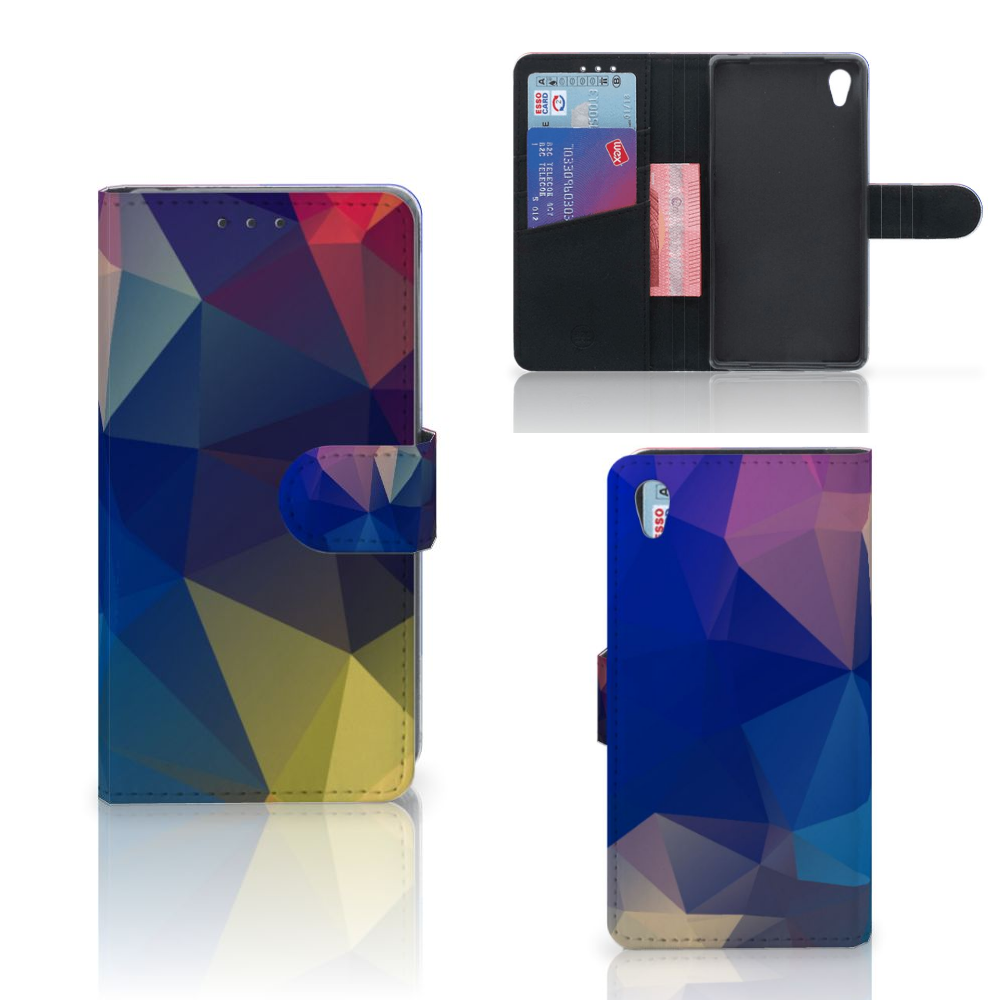 Sony Xperia Z2 Bookcase Polygon Dark