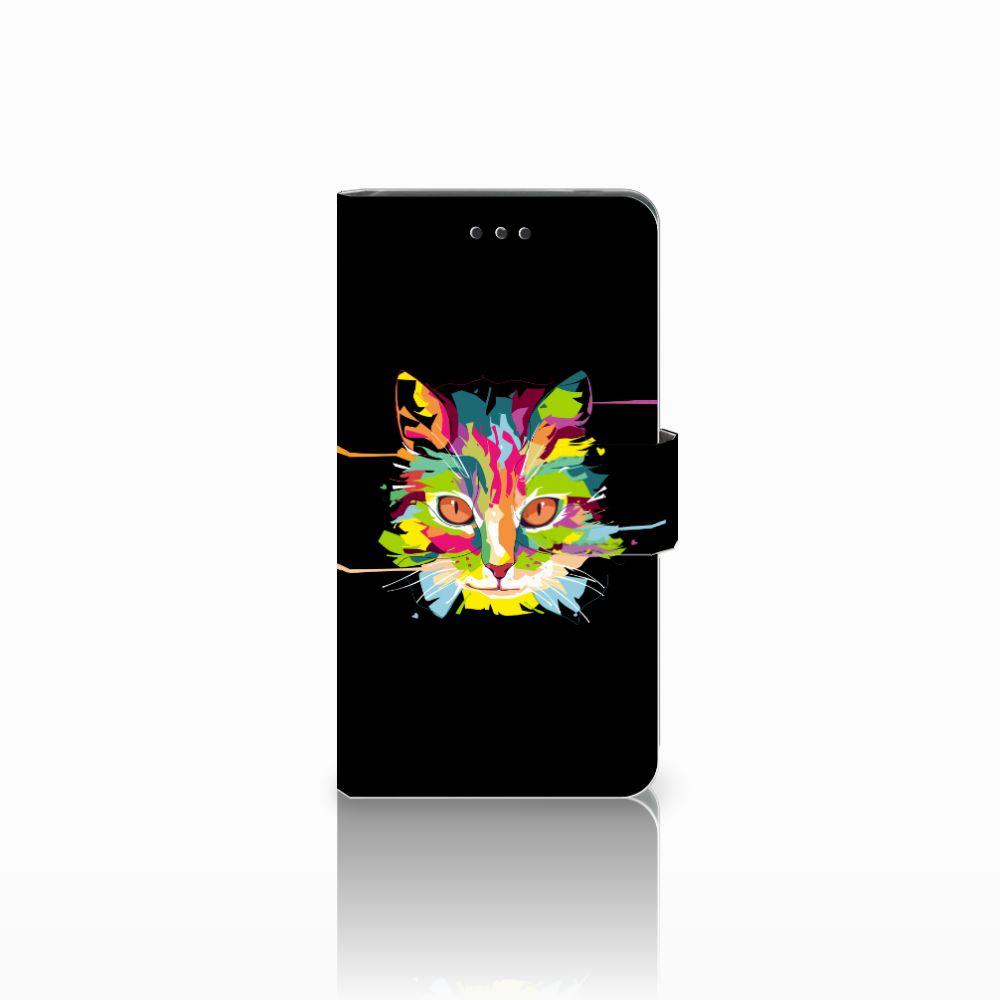 Nokia 7 Uniek Boekhoesje Cat Color