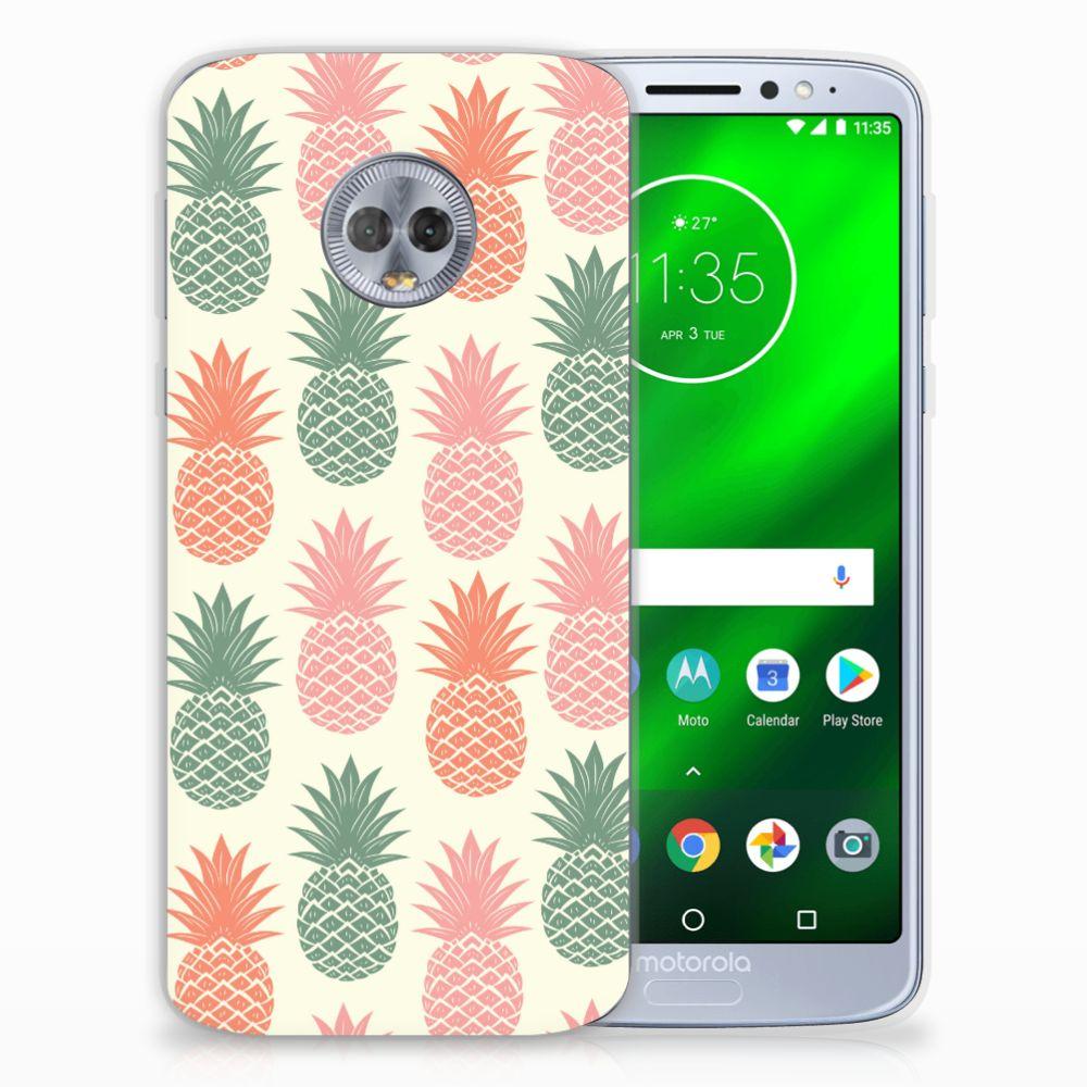 Motorola Moto G6 Plus Siliconen Case Ananas