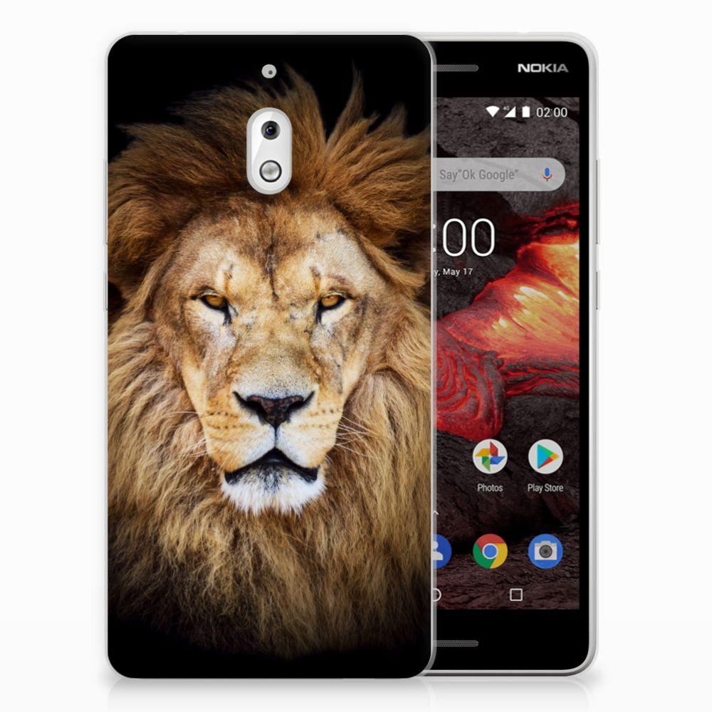Nokia 2.1 (2018) TPU Hoesje Leeuw